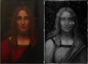 Il volto di Cristo  - Riflettografia a Scanner - Art-Test Firenze